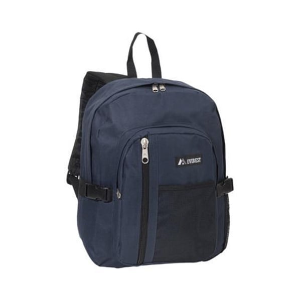 Everest 16-inch Navy Front Mesh Pocket Backpack