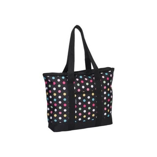 Everest Women's Fashion Polka Dot Shopping Tote