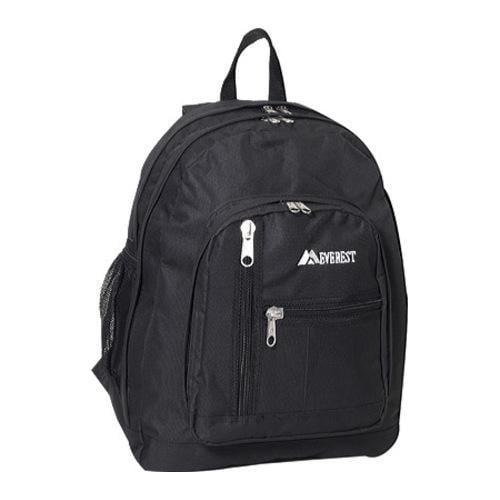 Everest 16-inch Black Front Mesh Pocket Backpack