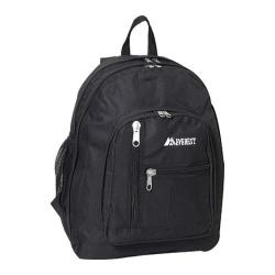 Everest 16-inch Black Front Mesh Pocket Backpack