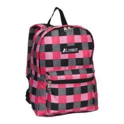 Everest Pattern Pink Bold Plaid Backpack