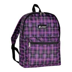 Everest Pattern Purple/Black Plaid Backpack