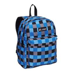 Everest Blue Bold Plaid Pattern Printed Backpack