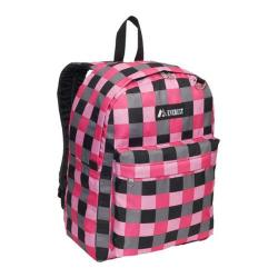 Everest Pink Bold Plaid Pattern Printed Backpack