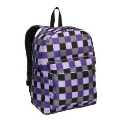 Everest Purple Bold Plaid Pattern Printed Backpack