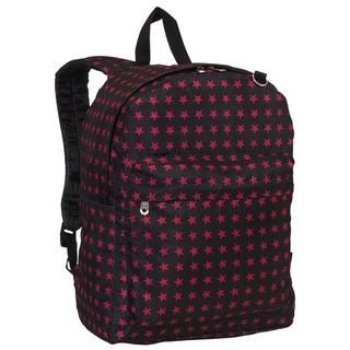 Everest Red Star Pattern Printed Backpack