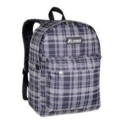 Everest Black/Grey Square Pattern Printed Backpack