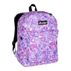 Everest Purple/Pink/Lavender Square Pattern Printed Backpack