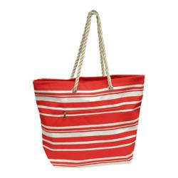 Goodhope P1660 Stripe Tote (Set of 2) Red
