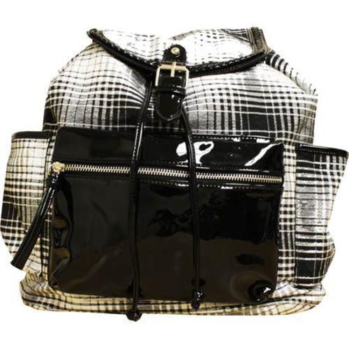 Women's Gotta Flurt Lenwood Backpack Black Plaid