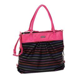 Women's Hadaki by Kalencom Tote Around Pod Pencil Stripes Berry