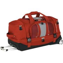 High Sierra 28in Drop Bottom Wheeled Duffel Lava/Red Clay/Ash