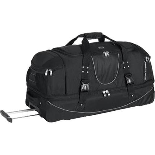 High Sierra 36in Drop Bottom Wheeled Duffel w/ Backpack Straps Black