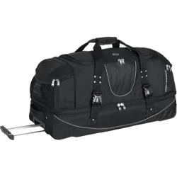 High Sierra 36in Drop Bottom Wheeled Duffel w/ Backpack Straps Black