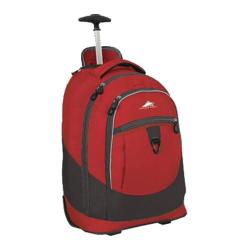 High Sierra Chaser Wheeled Book Bag Carmine Red/Charcoal