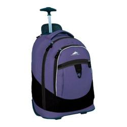 High Sierra Chaser Wheeled Book Bag Lilac Night/Black