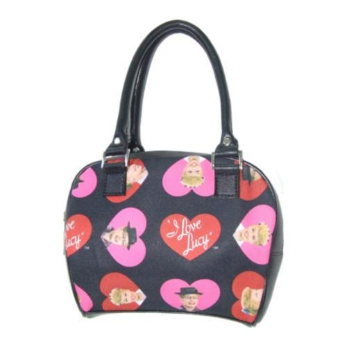Women's I Love Lucy Signature Product Bowling Bag Black/Hearts