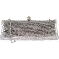 Women's J. Furmani 50074 Hardcase Shiny Clutch Silver