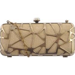 Women's J. Furmani 50242 Hardcase Clutch Gold