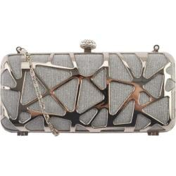 Women's J. Furmani 50242 Hardcase Clutch Silver