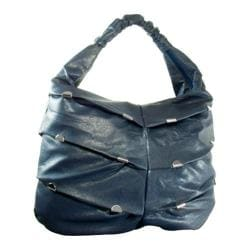 Women's J. Furmani 90380 Pleated Hobo Blue