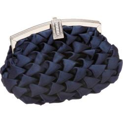 Women's J. Furmani H8262 Elegant Puffed Satin Clutch Navy