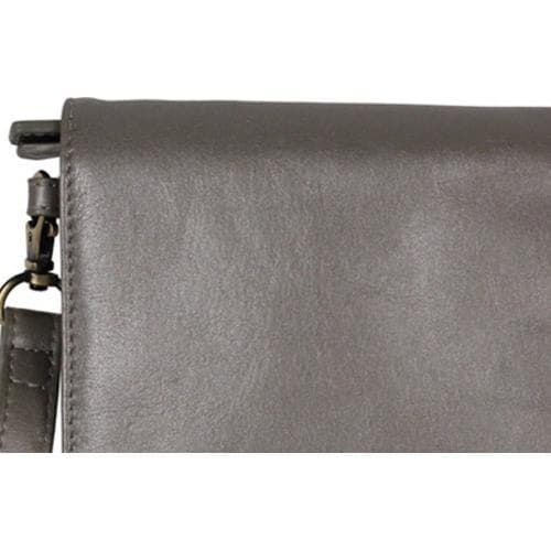 Women's Latico Amber Wristlet 7919 Metallic Gray Leather