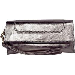 Women's Latico Art Wallet/Wristlet 1801 Gunmetal Leather