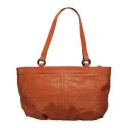 Women's Latico Bridgette E/W City Flapper 7929 Orange Leather