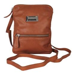 Women's Latico Dora Cross Body Coinkeeper 7314 Tan Leather