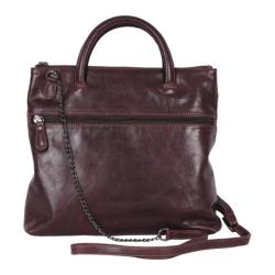 Women's Latico Gia Cross Body Bag 5519 Aubergine Leather