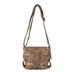 Women's Latico Gloria Cross-Hatch Shoulderbag 7634 Distressed Olive Leather