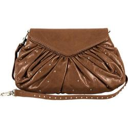 Women's Latico Grace Foldover Convertible Clutch/Cross Body 7903 Mocha Leather