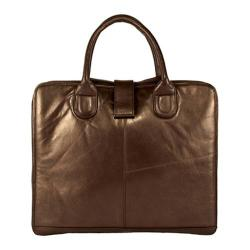 Women's Latico Jennette Laptop Brief 7638 Metallic Brown Leather