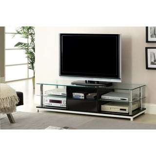 Furniture of America Vinnie 63-inch Tempered Glass Media Console