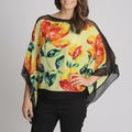 Berek Women's Flower Printed Silk Fashion Top