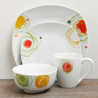 TTU Gallery 'Arcadia' 16-piece Square Dinnerware Set
