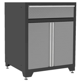 NewAge Products Pro Diamond Plate Series One Drawer with Two Door Base Cabinet