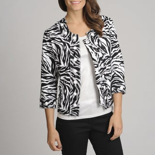 Berek Women's Zebra Print Novelty Jacket