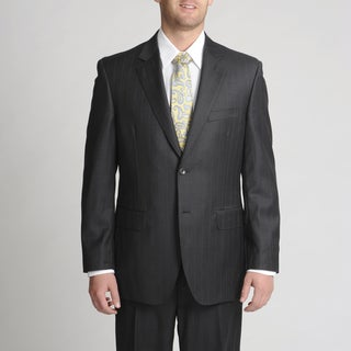Silvio Bresciani Italian Men's Subtle Stripe Suit