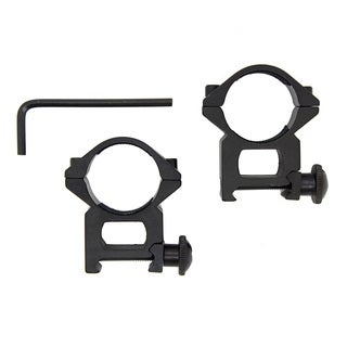 Set of 2 1 Inch 30 mm Rifle Crossbow Scope Rings / 7/8 Inch Dovetail Aluminum