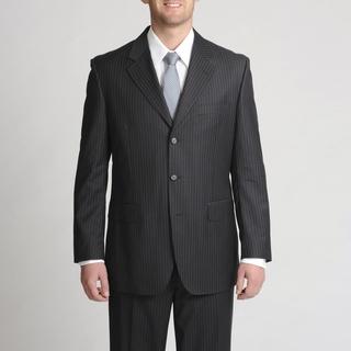Silvio Bresciani Italian Men's Subtle Contrast Pinstripe Suit
