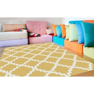 Metropolis 101033 Yellow Area Rug (7'10 x 10'3)
