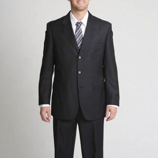 Silvio Bresciani Italian Men's Contrast Pinstripe Suit