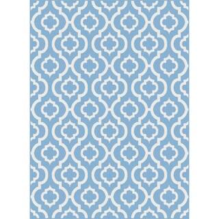 Metropolis 101021 Blue Area Rug (7'10 x 10'3)