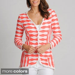 Berek Women's Wavy Knit Cardigan
