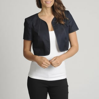 Lennie for Nina Leonard Women's Denim Shrug