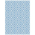 Metropolis Blue and White Moroccan Area Rug (5'3 x 7'3)
