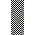 Metropolis Black and White Chevron Area Rug (2'7 x 7'3)