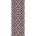 Metropolis Brown and White Moroccan Area Rug (2'7 x 7'3)